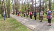 Занятия по скандинавской ходьбе